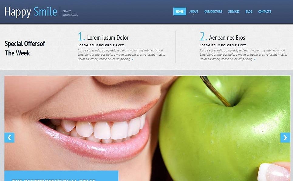 Modèle Moto CMS HTML  pour site de dentisterie New Screenshots BIG