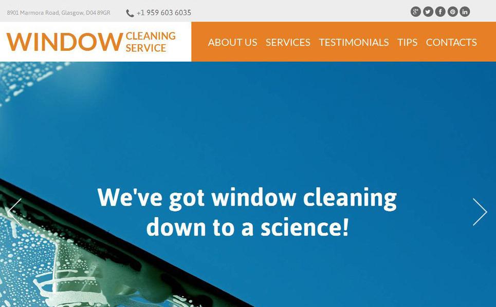MotoCMS HTML шаблон на тему мийка вікон New Screenshots BIG