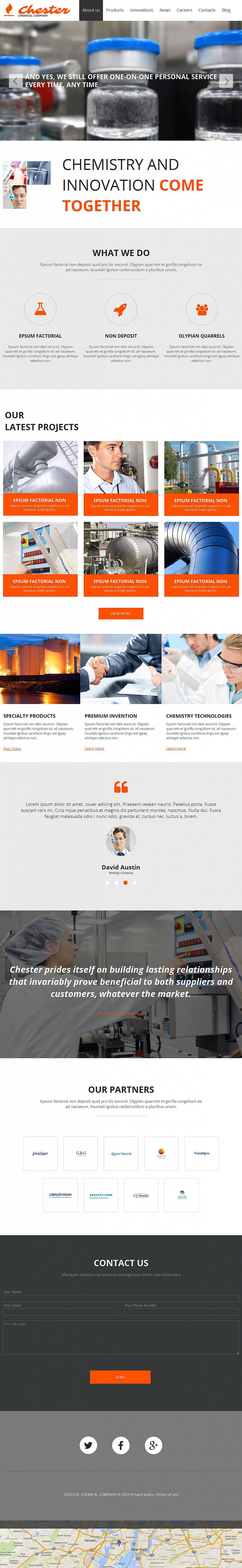 Chemical Web Template in Flat Style - image