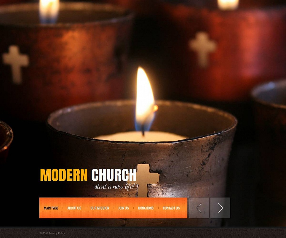 Modern Church Website Design with a Photo Background - image