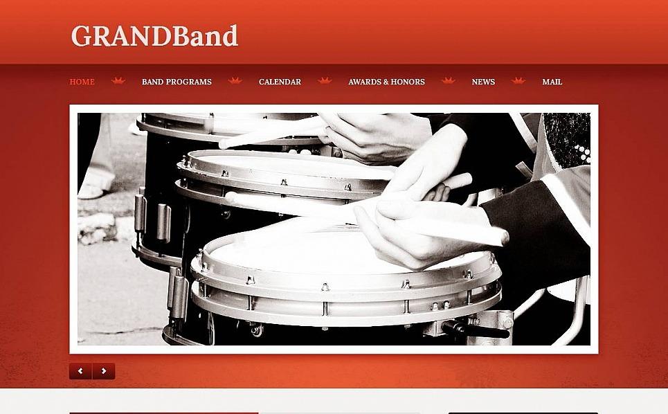 Modello Moto CMS HTML  #53621 per Un Sito di Music Band New Screenshots BIG