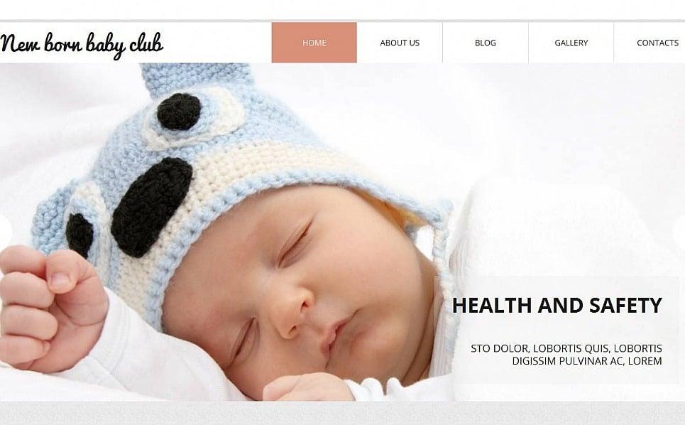 Premium Moto CMS HTML Template over Pasgeborenen New Screenshots BIG