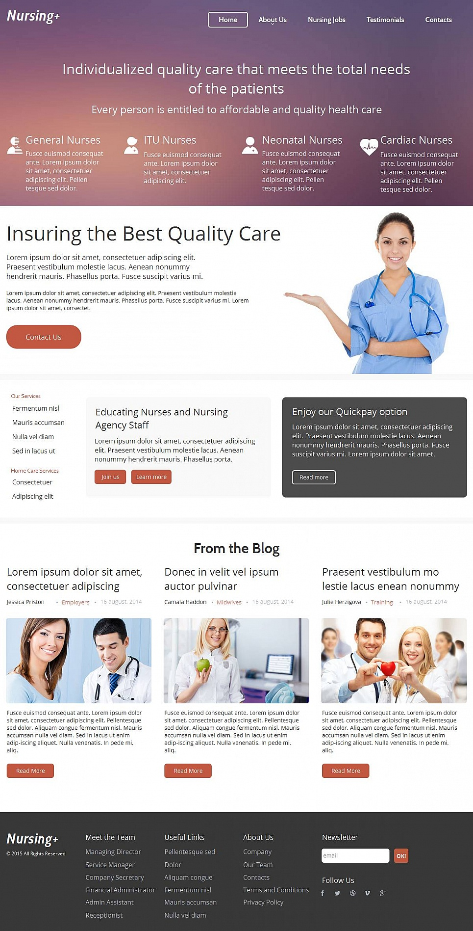 Nursing Care Website Design - image