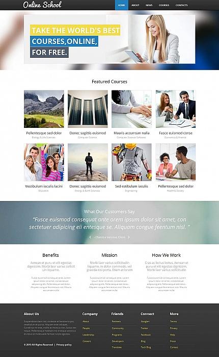 ADOBE Photoshop Template 53628 Home Page Screenshot