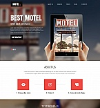 Hotels Moto CMS HTML  Template 53629