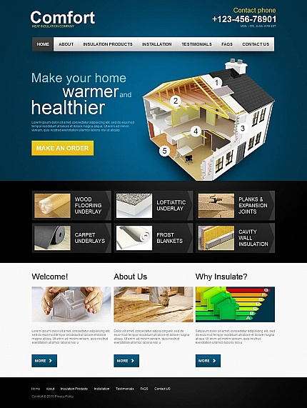 ADOBE Photoshop Template 53630 Home Page Screenshot