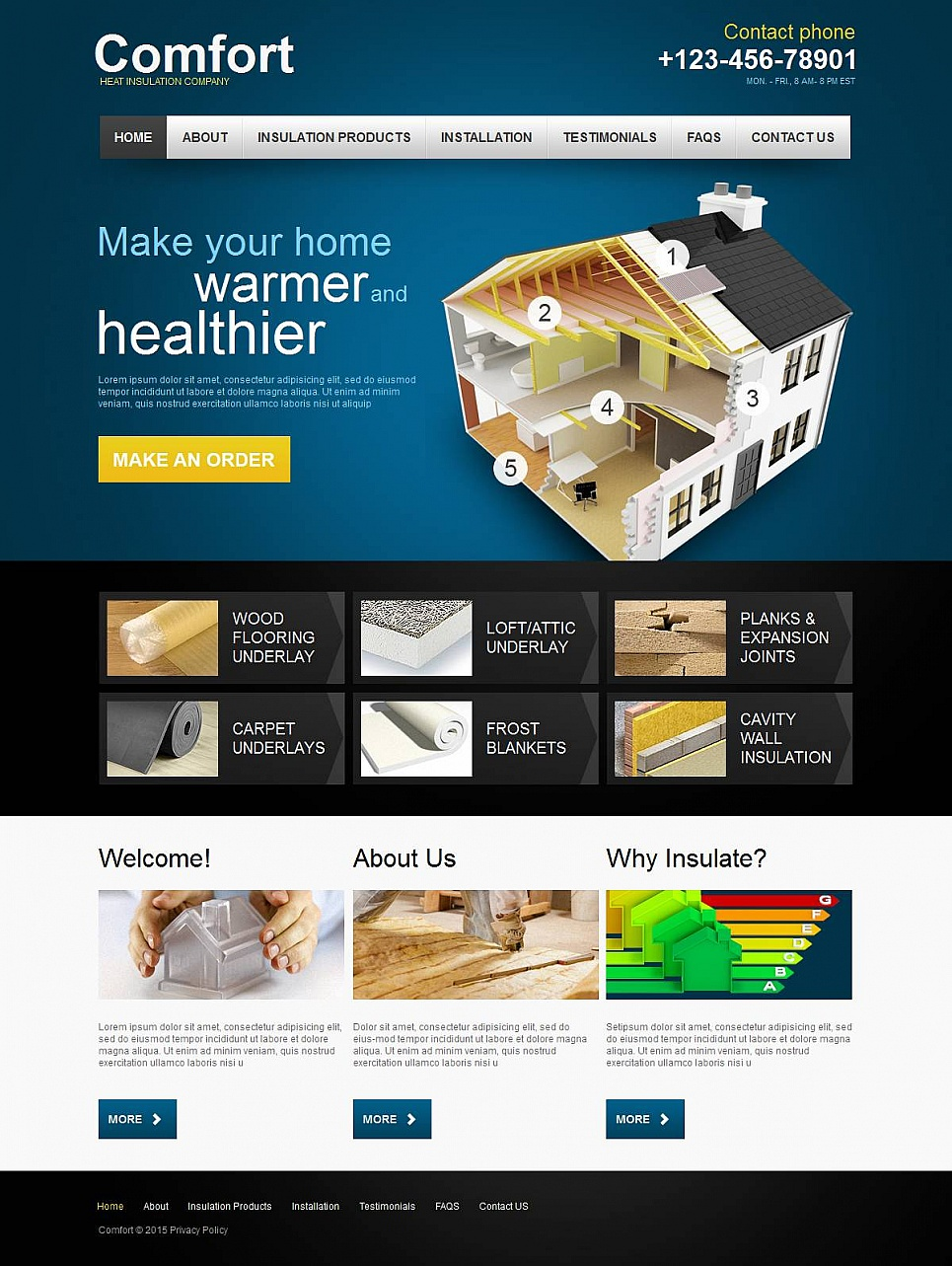 Website Template for Insulation Products and Services - image