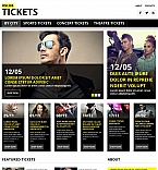 Entertainment Moto CMS HTML  Template 53634