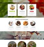 Cafe & Restaurant Website  Template 53639