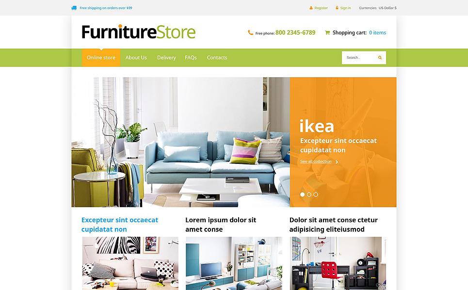 """VirtueMart Vorlage namens """"Innenraum und Möbel"""" New Screenshots BIG"""