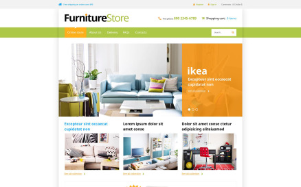 Interior Furniture VirtueMart Template