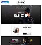 Music Website  Template 53647
