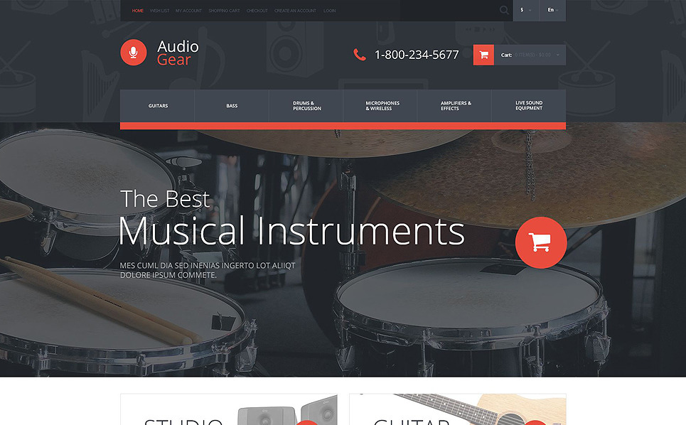 Responsive OpenCart Vorlage für Audioladen  New Screenshots BIG