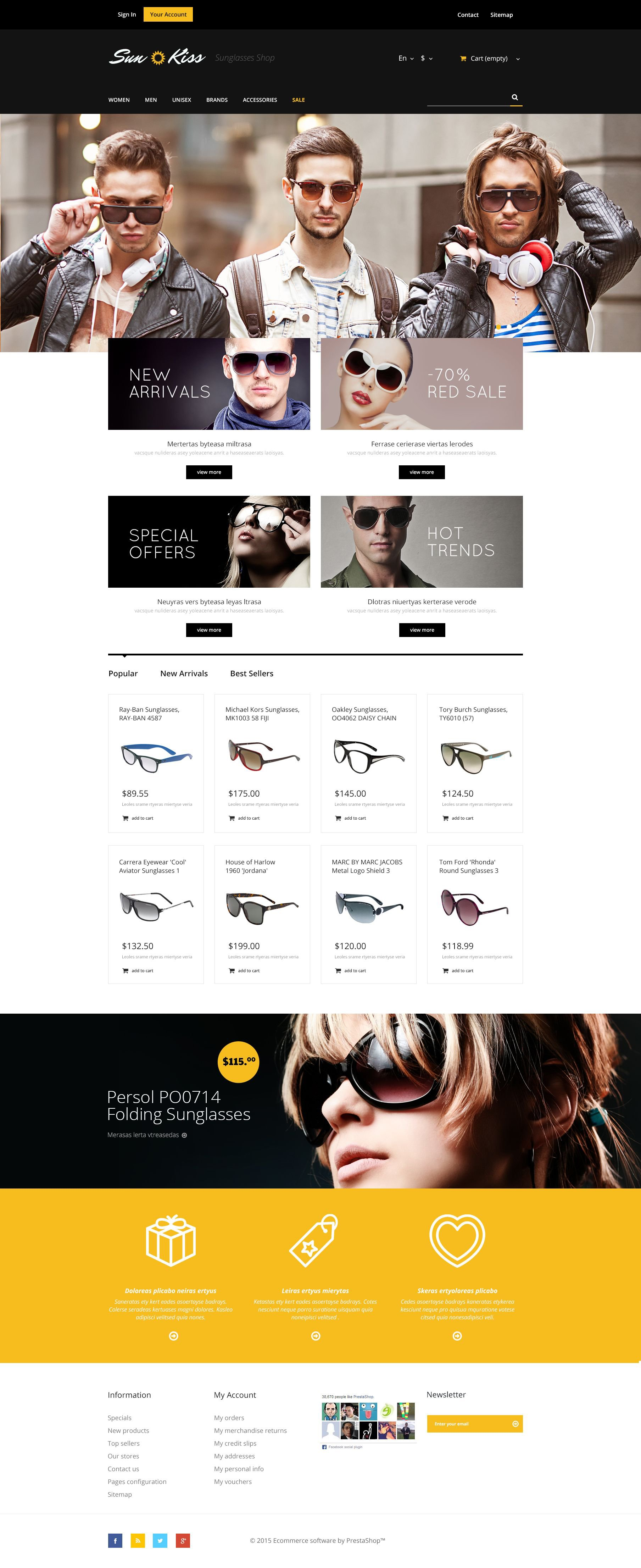 The Sun Kiss PrestaShop Design 53663, one of the best PrestaShop themes of its kind (fashion, most popular), also known as sun kiss PrestaShop template, sunglasses PrestaShop template, accessories PrestaShop template, watches PrestaShop template, umbrellas PrestaShop template, wallets PrestaShop template, clothing PrestaShop template, belts PrestaShop template, jewelry PrestaShop template, necklaces PrestaShop template, rings PrestaShop template, earrings PrestaShop template, eyewear PrestaShop template, dresses PrestaShop template, shoes PrestaShop template, sandals PrestaShop template, handbags PrestaShop template, hair PrestaShop template, carves PrestaShop template, hats and related with sun kiss, sunglasses, accessories, watches, umbrellas, wallets, clothing, belts, jewelry, necklaces, rings, earrings, eyewear, dresses, shoes, sandals, handbags, hair, carves, hats, etc.