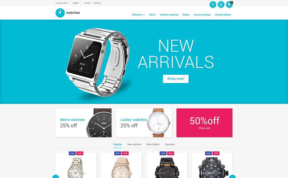 Responsive PrestaShop Thema over Horloges  New Screenshots BIG