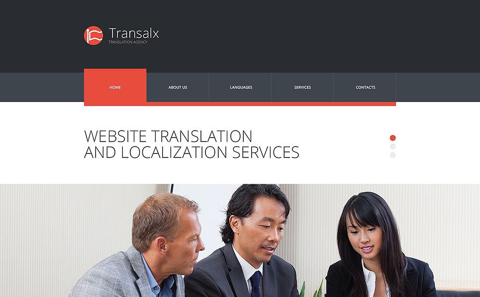 Responzivní Šablona webových stránek na téma Překladatelská kancelář New Screenshots BIG