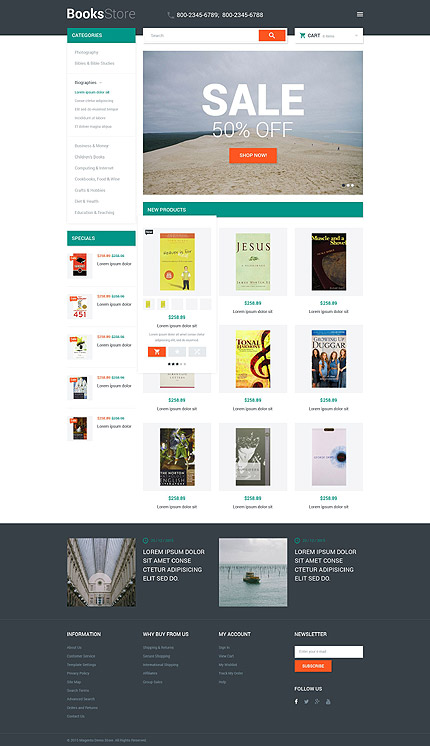 Magento Theme/Template 53675 Main Page Screenshot