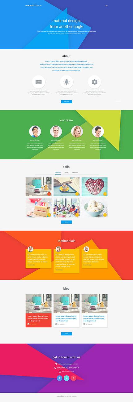 WordPress Theme/Template 53677 Main Page Screenshot