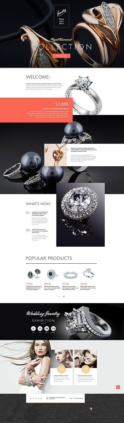 jewelry landing page template website templates