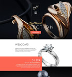 Jewelry Landing Page  Template 53680
