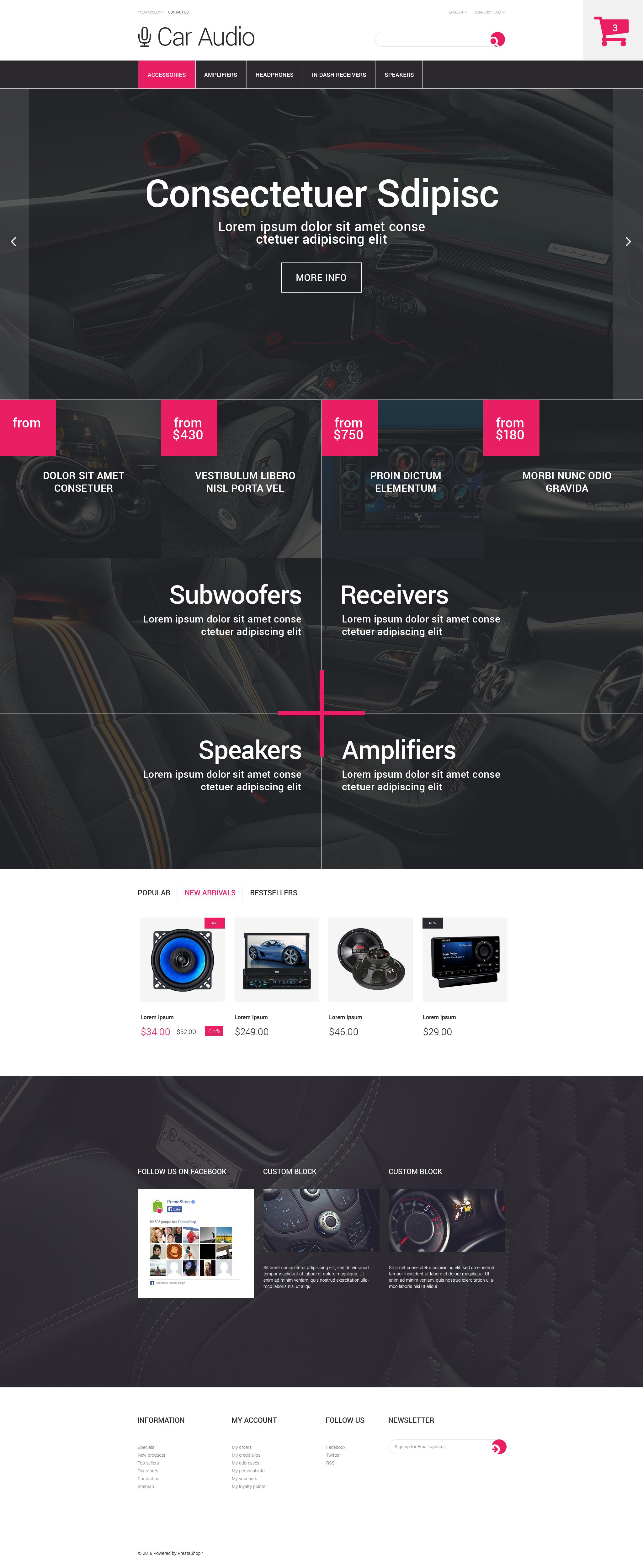 The Car Audio Online Store PrestaShop Design 53686, one of the best PrestaShop themes of its kind (cars), also known as car audio online store PrestaShop template, shop PrestaShop template, shopping cart PrestaShop template, virtuemart PrestaShop template, products PrestaShop template, music PrestaShop template, pioneer PrestaShop template, player PrestaShop template, cd PrestaShop template, dvd-rom PrestaShop template, sd PrestaShop template, card PrestaShop template, usb PrestaShop template, dj PrestaShop template, mp3 PrestaShop template, sound PrestaShop template, electronics and related with car audio online store, shop, shopping cart, virtuemart, products, music, pioneer, player, cd, dvd-rom, sd, card, usb, dj, mp3, sound, electronics, etc.