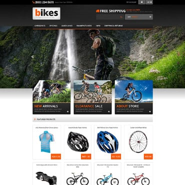 Preview image of Sport ZenCart Template No. 53687