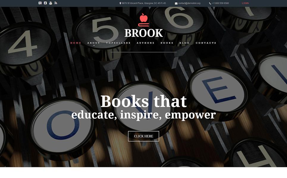 Responzivní Joomla šablona na téma Nakladatelství a Vydavatelství New Screenshots BIG