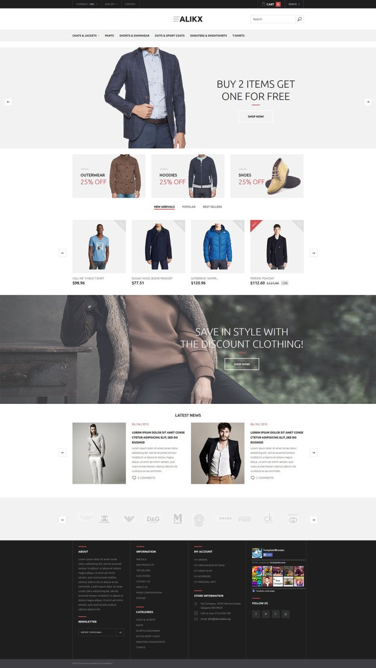 Alikx PrestaShop Theme New Screenshots BIG