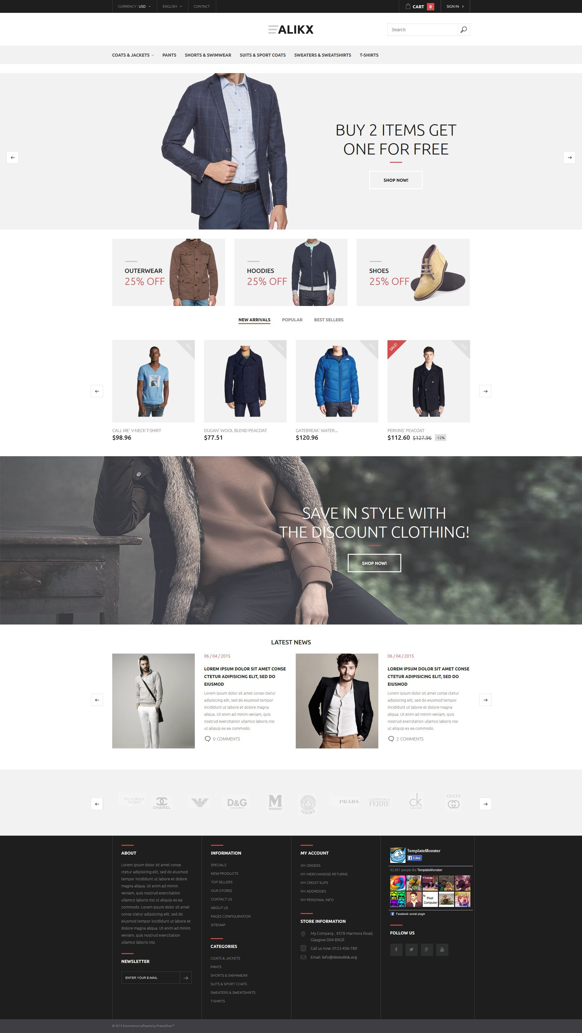 Alikx PrestaShop Theme