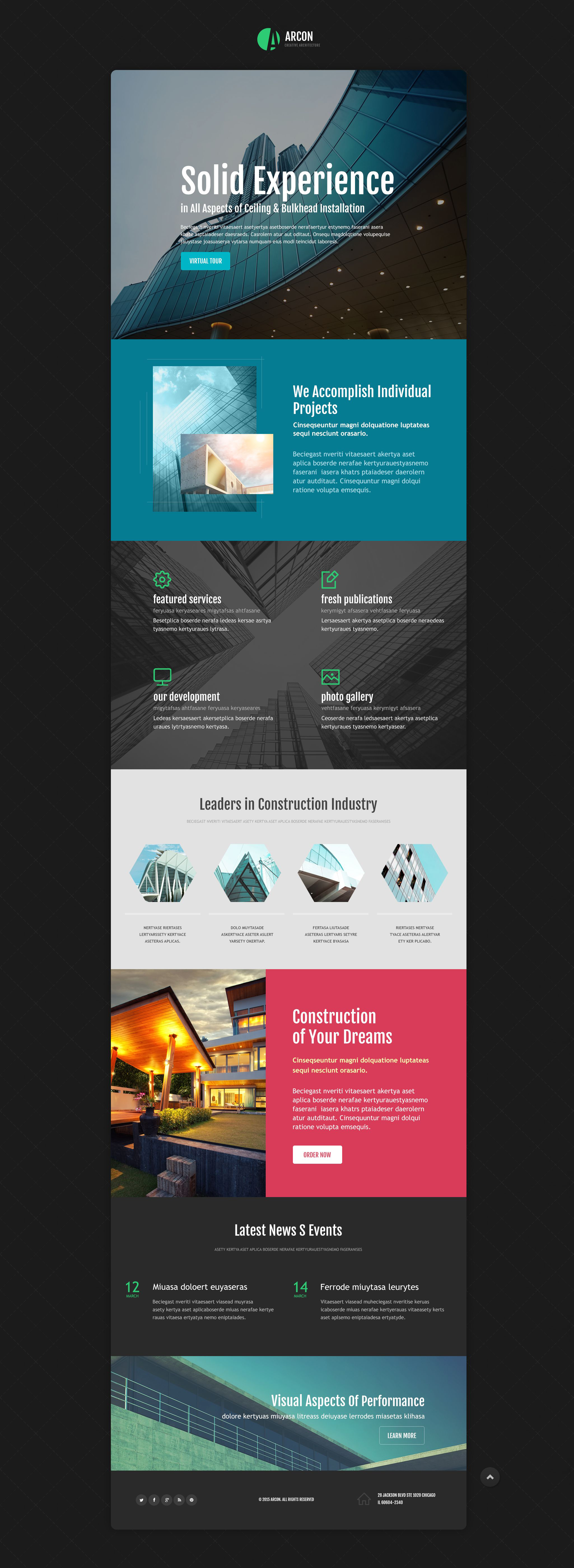 Architecture Responsive Landing Page Template - screenshot