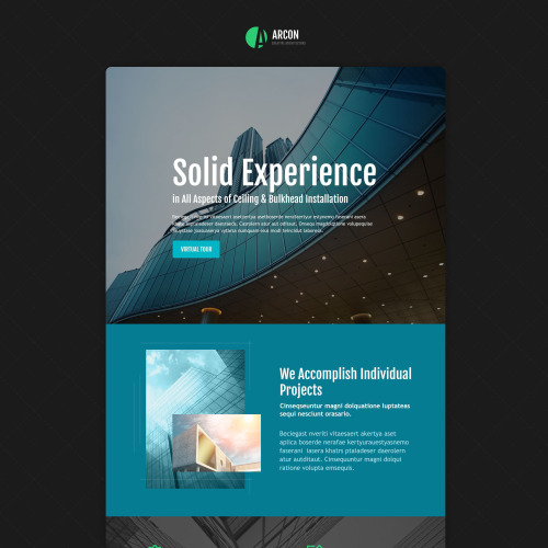 Arcon - Responsive Landing Page Template