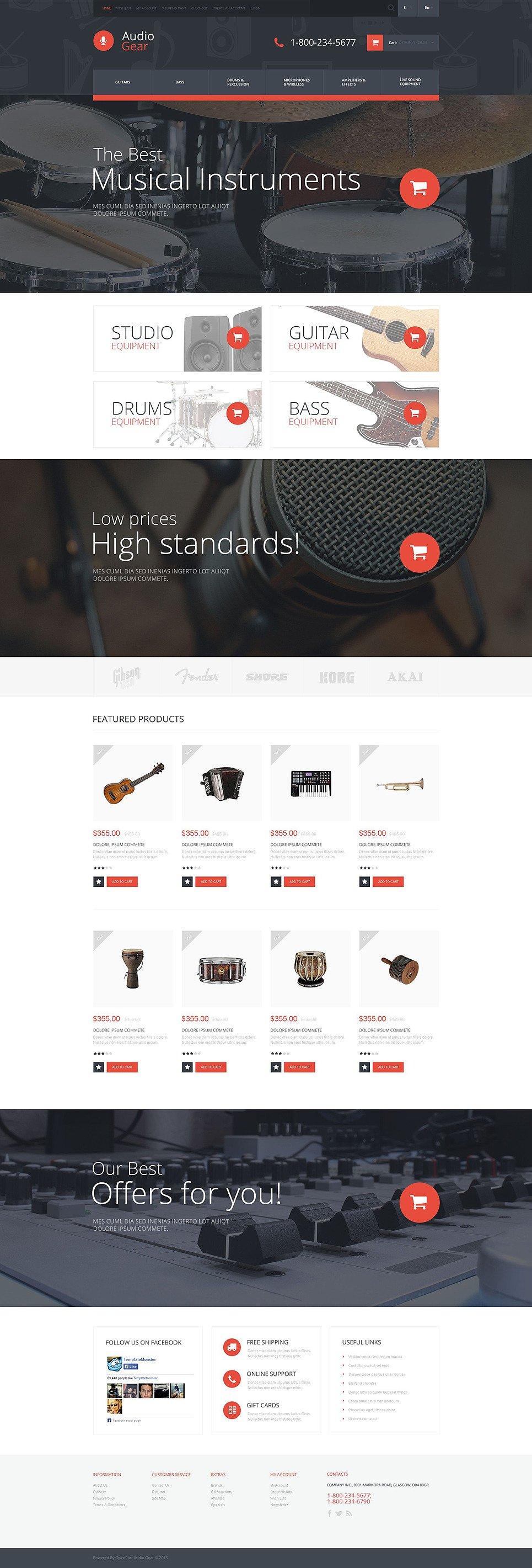 Audiogear Shop OpenCart Template New Screenshots BIG