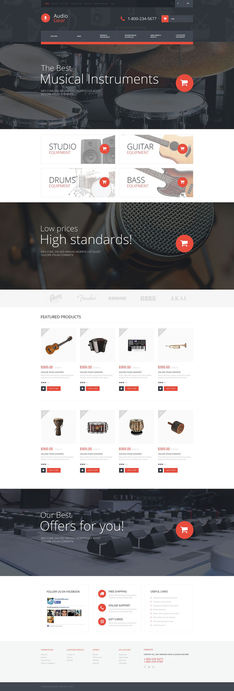 Audiogear Shop OpenCart Template New Screenshots BIG