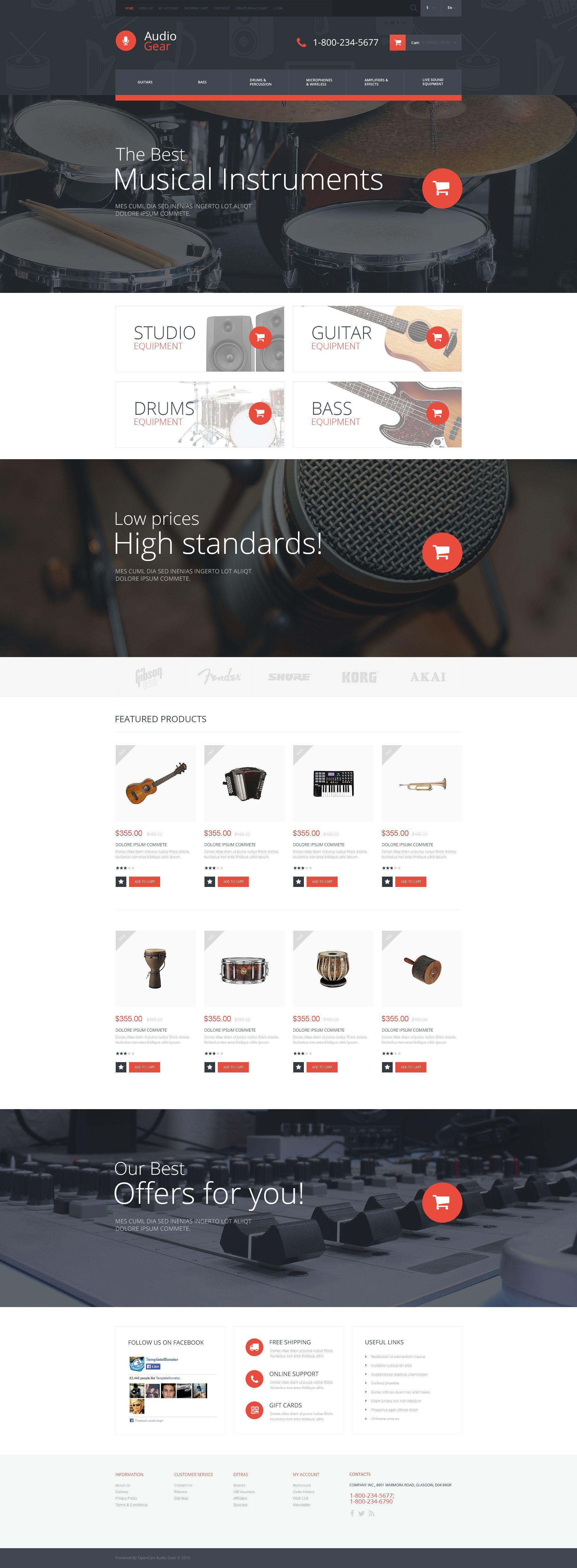 Audiogear Shop OpenCart Template
