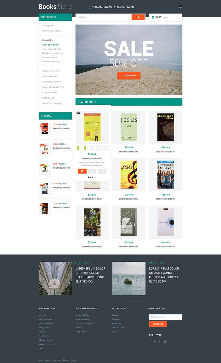 Books Store Magento Theme New Screenshots BIG