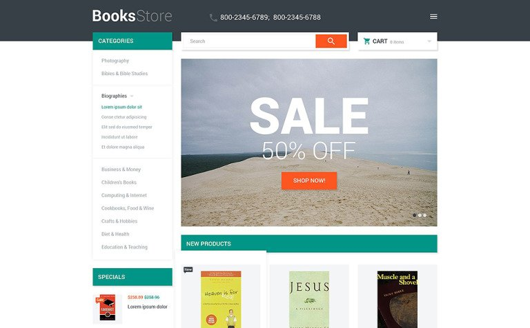 Book store magento theme books store magento theme new screenshots big fandeluxe Gallery