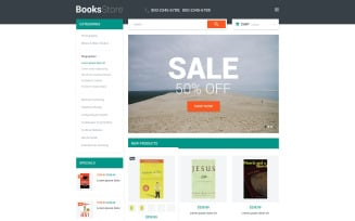 Books Store Magento Theme