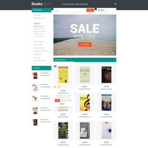 Books Store - Magento Template based on Bootstrap