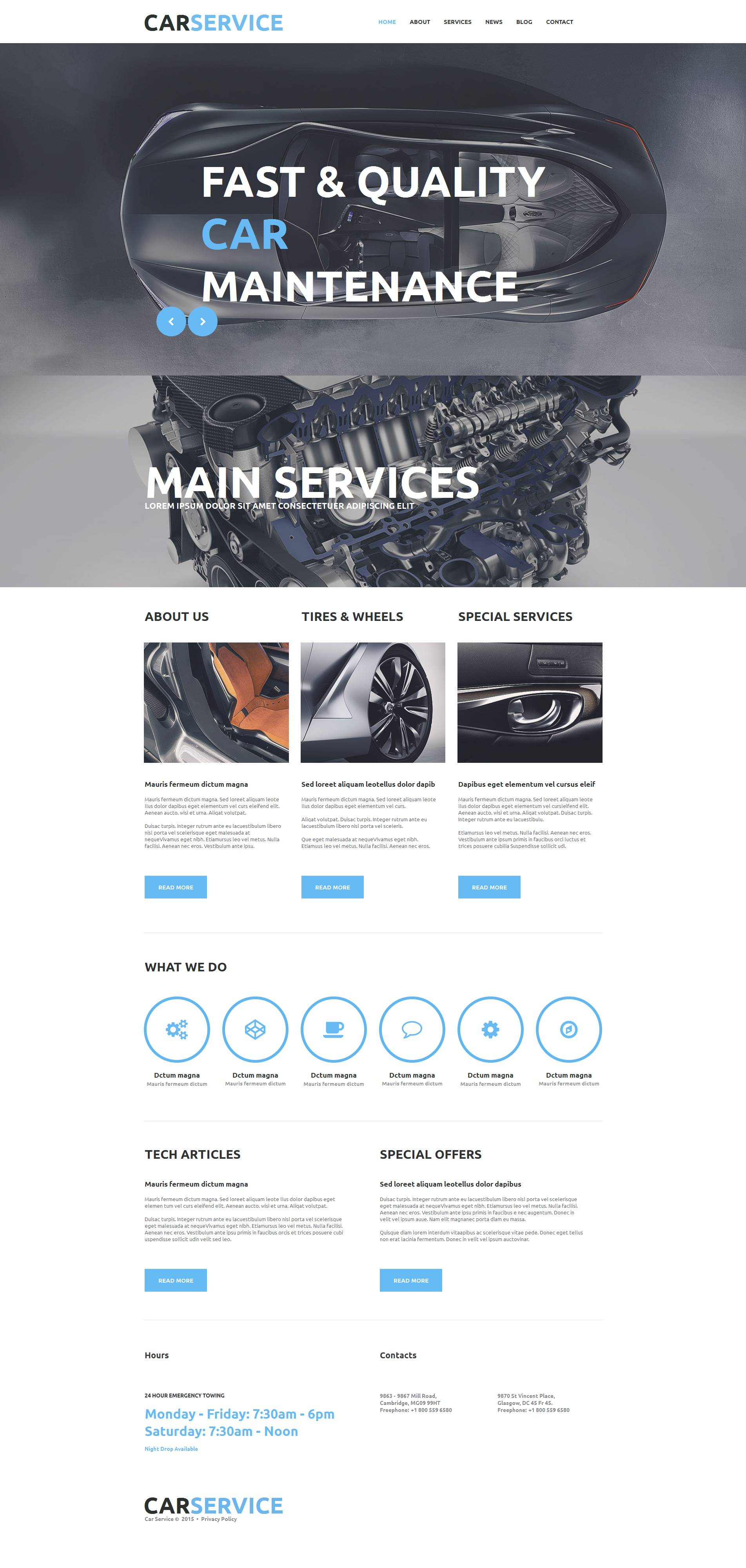 Car repair moto cms html template
