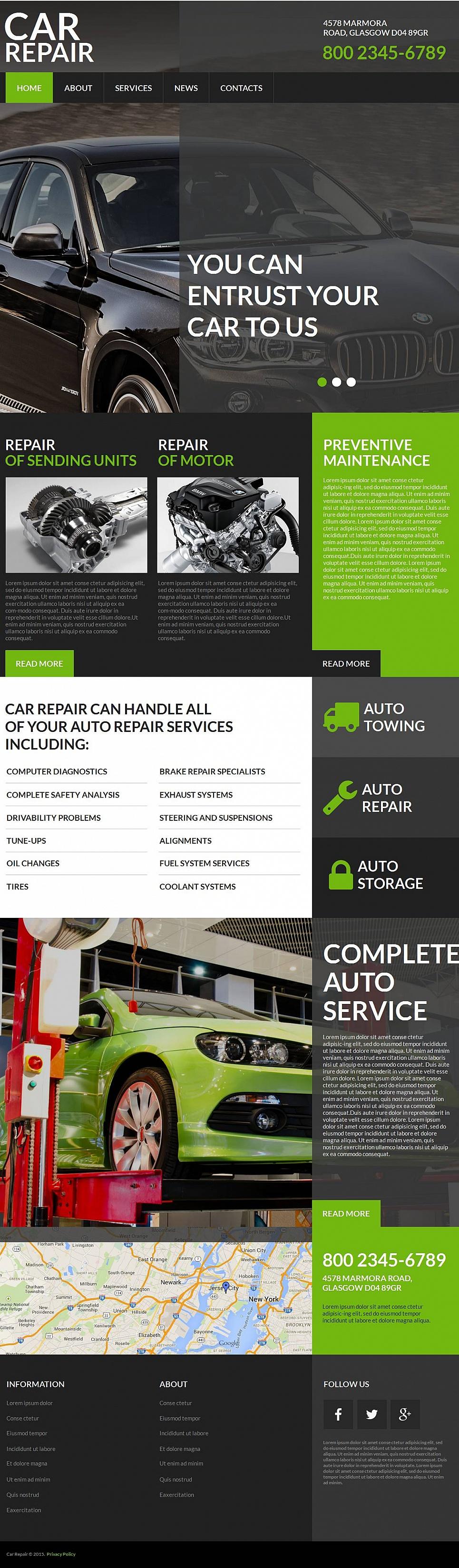 car repair moto cms html template 53635