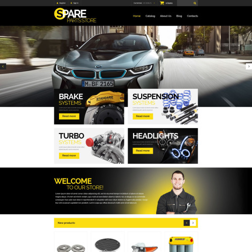Spare Parts Store - VirtueMart Template based on Bootstrap