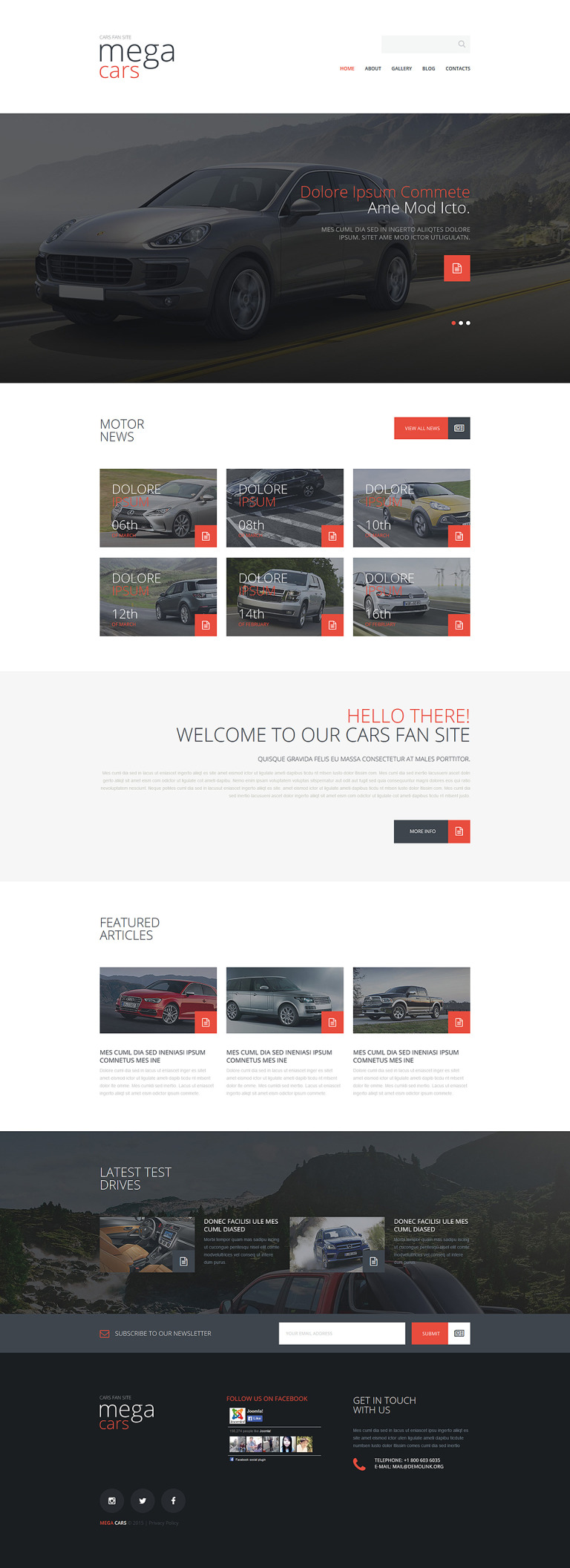 Cars Fan Site Joomla Template New Screenshots BIG