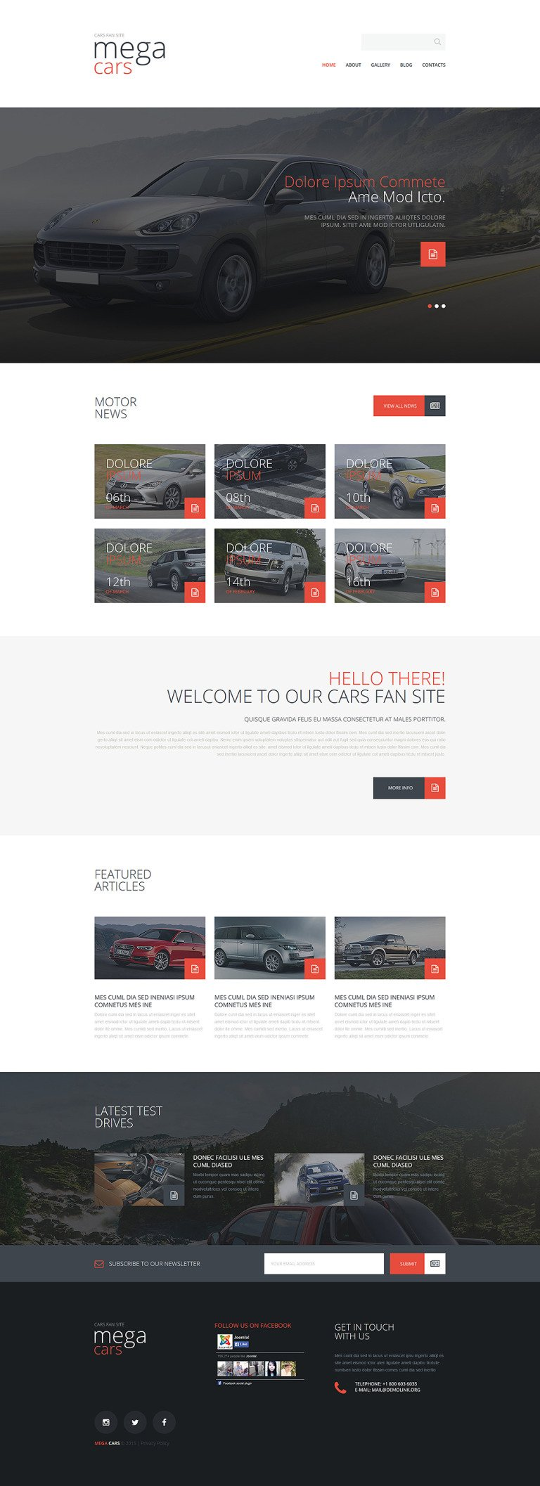 Cars Fan Site Joomla Template New Screenshots BIG