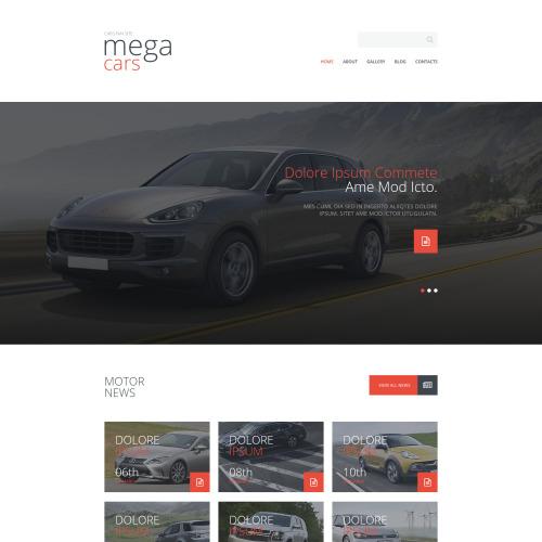 Mega Cars - Joomla! Template based on Bootstrap