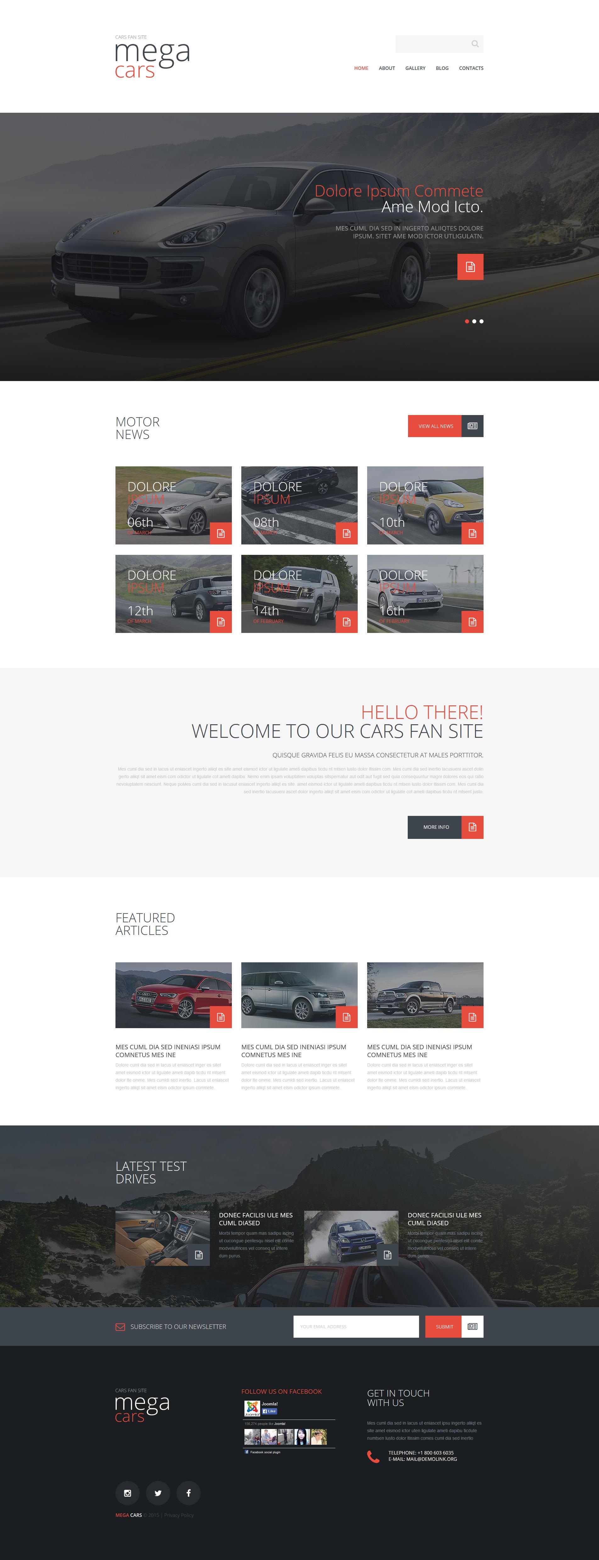 """Cars Fan Site"" thème Joomla adaptatif #53641"