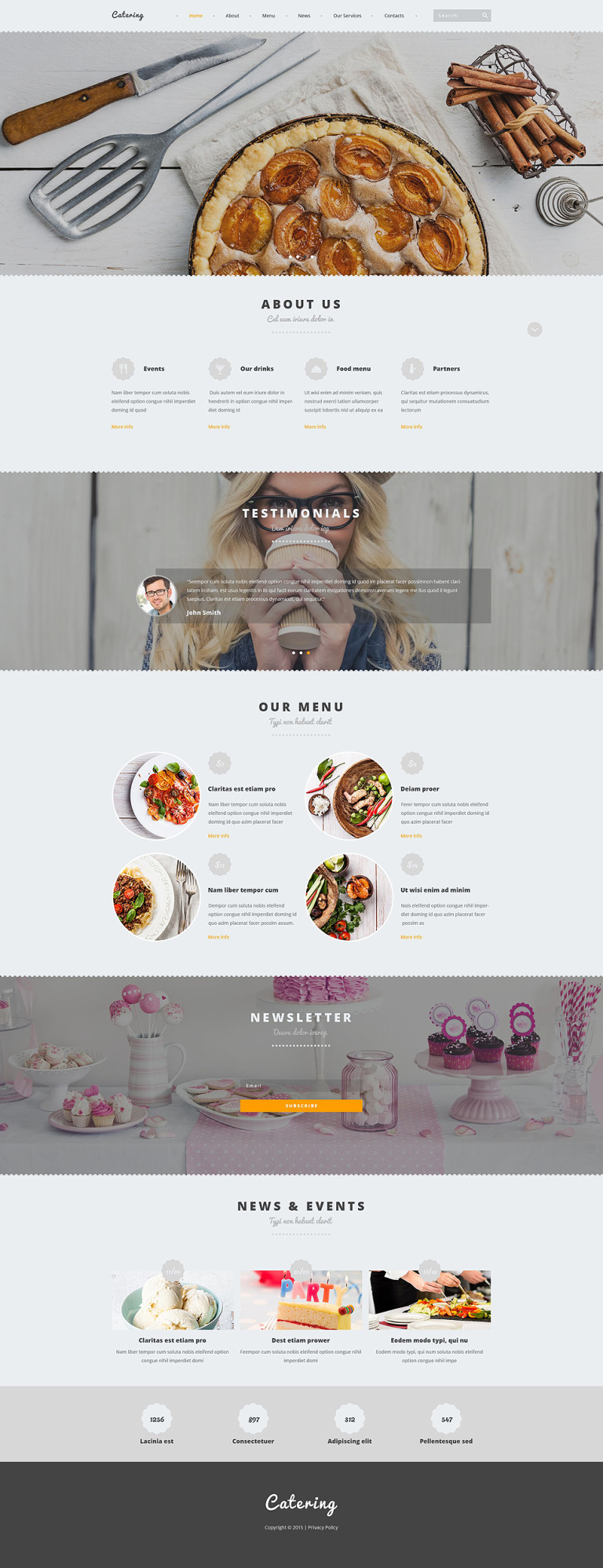 Catering Joomla Template New Screenshots BIG