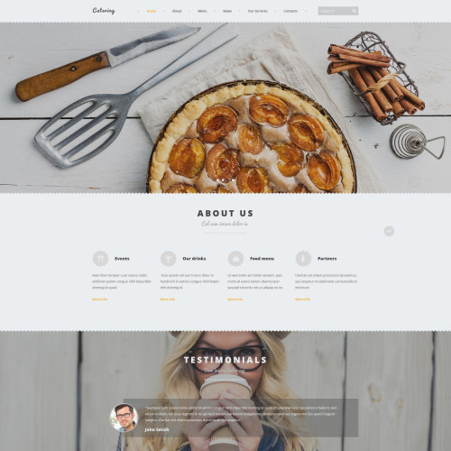 Catering - Joomla! Template based on Bootstrap