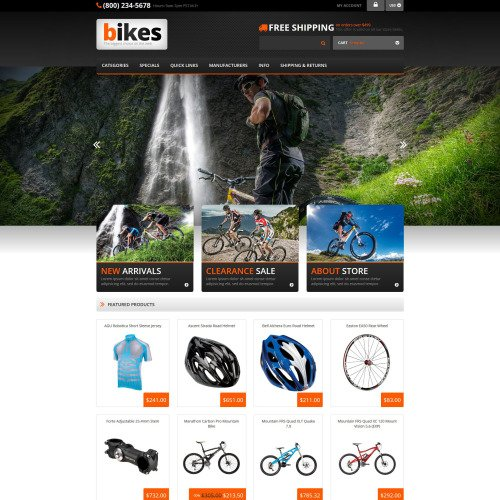 Cycling - ZenCart Template based on Bootstrap