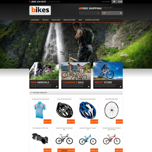 Bikes - ZenCart Template based on Bootstrap