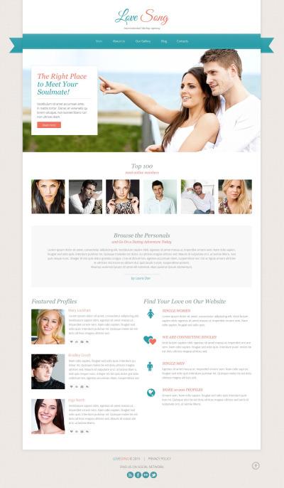 Online dating web design